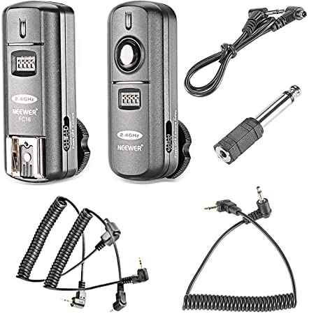 6. Neewer FC-16 3-IN-1 2.4GHz Wireless Flash Trigger with Remote Shutter