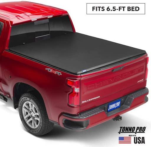 3.Tonno Pro Hard Fold, Hard Folding Truck Bed Tonneau Cover | HF-365 | Fits 2015 - 2020 Ford F-150 6'5