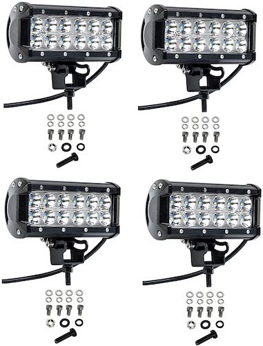 5. Cutequeen 4 X 36w 3600 Lumens Cree LED Spot Light