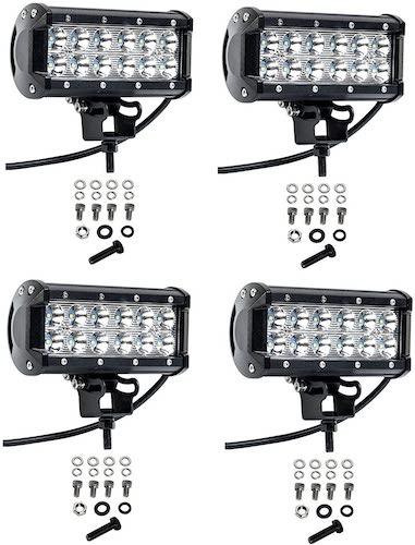 5.Cutequeen 4 X 36w 3600 Lumens Cree LED Spot Light