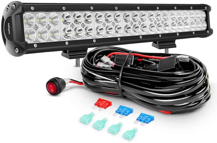 1.Nilight LED Light Bar 20Inch 126W Spot Flood Combo Led Off Road Lights