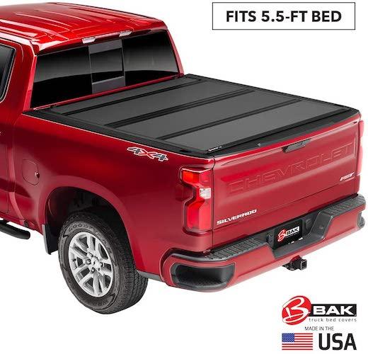 2.BAK BAKFlip MX4 Hard Folding Truck Bed Tonneau Cover | 448329 | Fits 2015-20 Ford F150 5'6