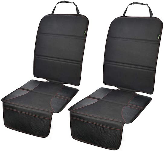 5.Car Seat Protector 2 Pack for Child Car Seat, Auto Seat Cover Pad Under Baby Car seat
