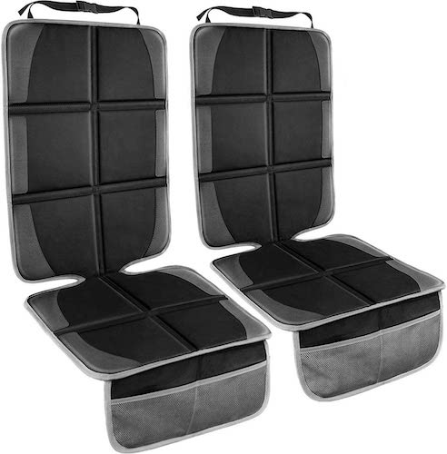 4.Car Seat Protector, (2 Pack) Large Auto Car Seat Protectors for Child Baby Car Seat