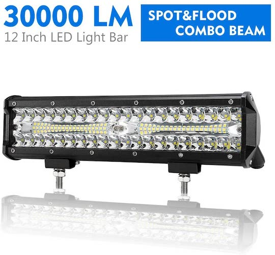 4. 12 Inch LED Light Bar Spot Flood Combo Beam Liteway 30000 LM Triple Row Light Bar