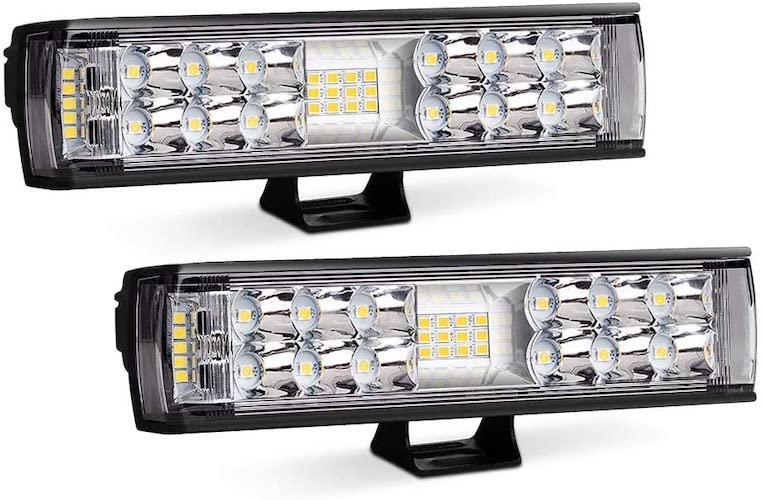 9. AutoFeel LED Light Bar 2PCS 7 Inch 60W LED Pods Flood Spot Beam Combo Off Road Driving Fog Light