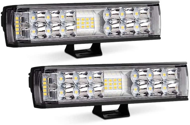 9.AutoFeel LED Light Bar 2PCS 7 Inch 60W LED Pods Flood Spot Beam Combo Off Road Driving Fog Light