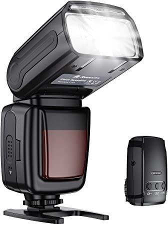10. Powerextra Flash Speedlite, 2.4G Wireless Flash Trigger Transmitter Kit