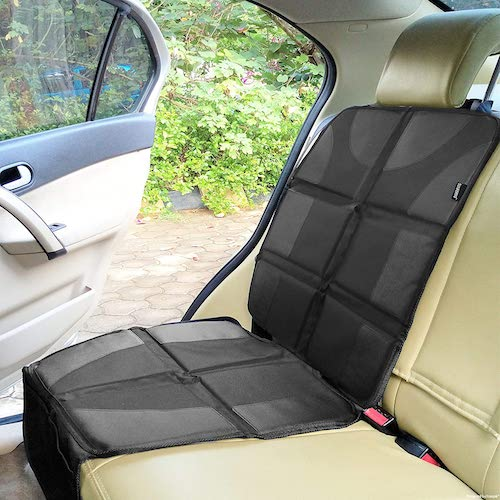 10. Sunferno Car Seat Protector - Protects Your Car Seat from Baby Car Seat Indents, Dirt and Spills
