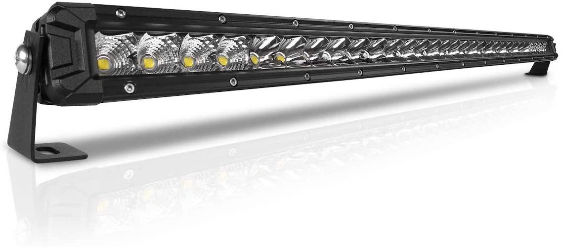 10.Rigidhorse 32 Inch LED Light Bar Single Row Flood & Spot Beam Combo 30000LM Off Road LED Light Bar