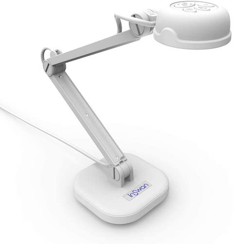 1.INSWAN INS-1 Tiny 8MP USB Document Camera with Auto-Focus and LED Supplemental Light