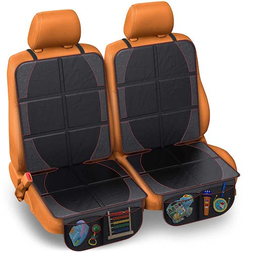 9.FORTEM Car Seat Protector 2PK, Waterproof Backseat Thick Padding Cover