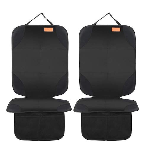 3.Smart Elf Car Seat Protector, 2Pack Seat Protector Protect Child Seats