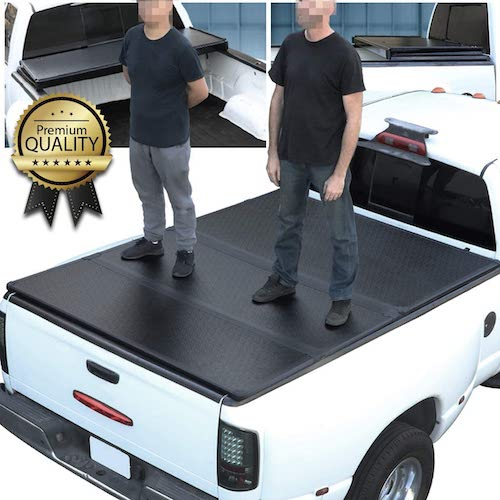 6.Hard Solid Tri-Fold Tonneau Cover Replacement for Dodge Ram Truck 1500 2500 3500 Fleetside 8 Ft Long Bed 02-09