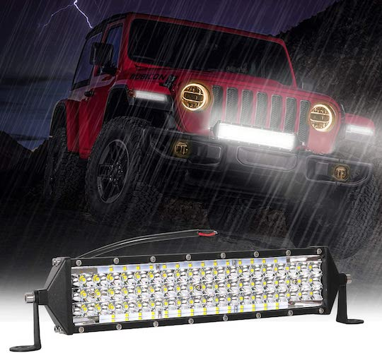 3. Zmoon LED Light Bar 12 Inch 264w 26400Lm LED Work Light Spot Flood Combo Led Bar