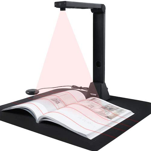 4.iOCHOW S5 Book & Document Camera, 22MP High Definition Professional Portable Book Scanner