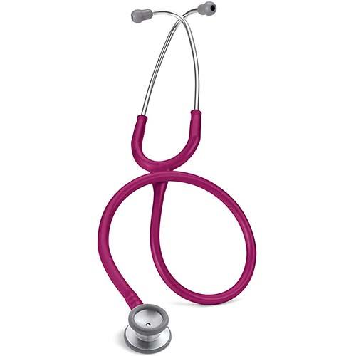 1. 3M Littmann Stethoscope, Classic II Pediatric, Raspberry Tube, Stainless Steel Chestpiece