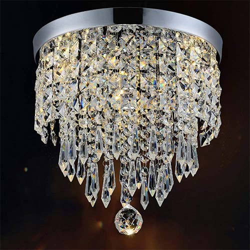 3. Hile Lighting KU300074 Modern Chandelier Crystal Ball Fixture Pendant Ceiling Lamp
