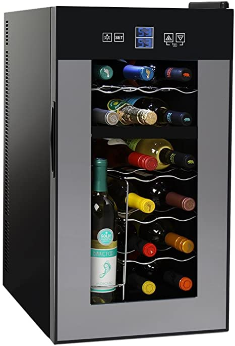 7. NutriChef PKTEWCDS1802 18 Bottle Dual Zone Thermoelectric Wine Cooler