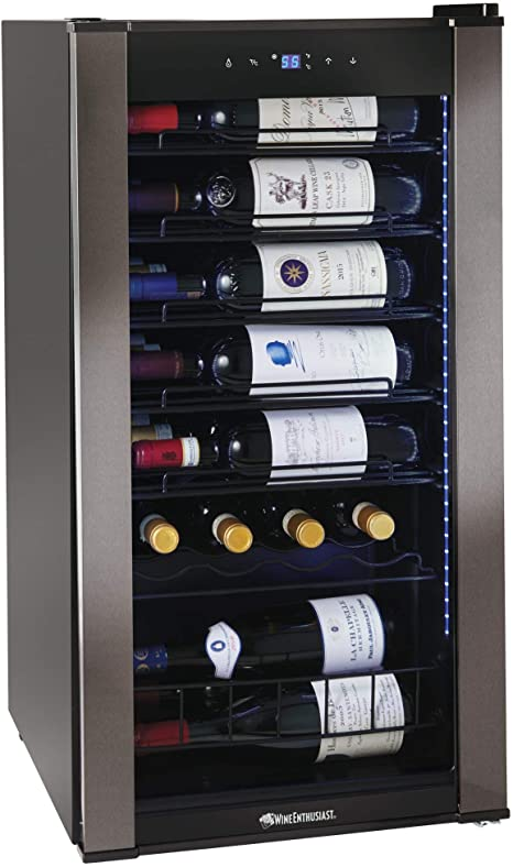 6. Wine Enthusiast VinoView 28-Bottle Wine Fridge – Freestanding Refrigerator