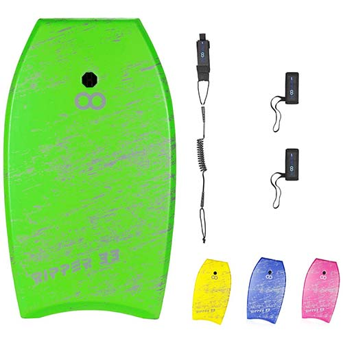 9. BPS Storm Bodyboard - Includes Premium Coiled Leash and Swim Fin Tethers/Savers