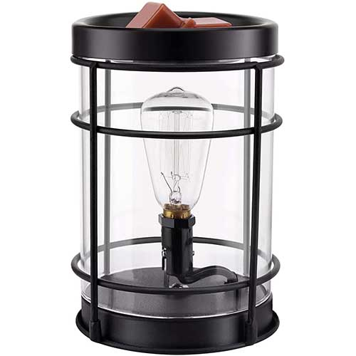 9. SOLIGT Edison Style Metal Candle Warmer for Wax Cubes Freshener Wax Melter