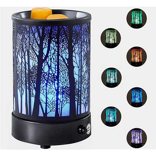 3. Hituiter Wax Melt Warmer with 7 Colors LED Lighting Oil lamp Wax Burner Scented Wax Melter Candle Warmer