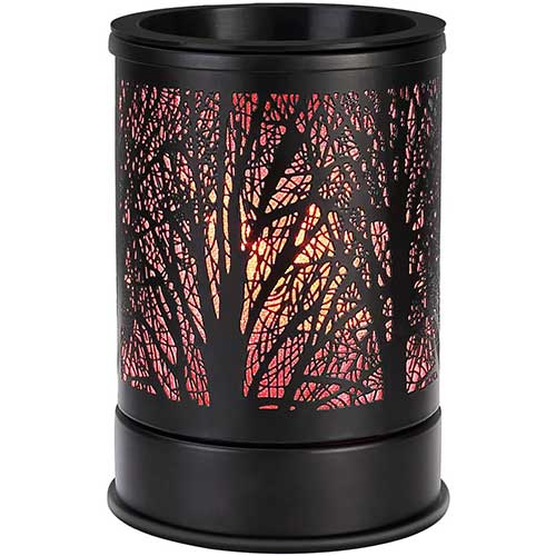 5. Enaroma Fragrance Wax Melts Warmer with 7 Colors LED Changing Light Classic Black Forest Design Scent Oil Candle Warmer