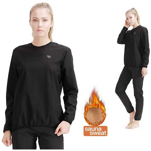 3. 365 DAYS Sauna Suit for Women Weight Loss Sweat Suit Slim Fitness Clothes