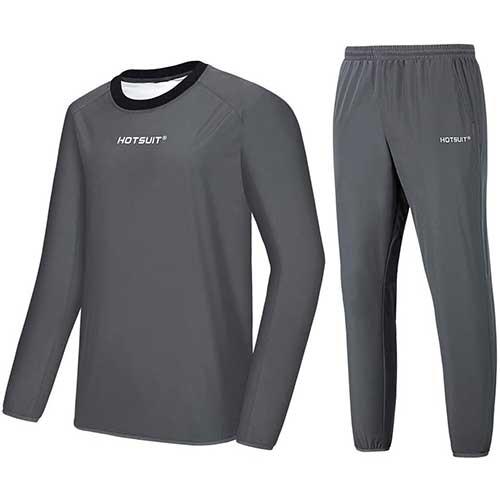 8. HOTSUIT Sauna Suit Men Weight Loss Sweat Jacket Gym Boxing Workout