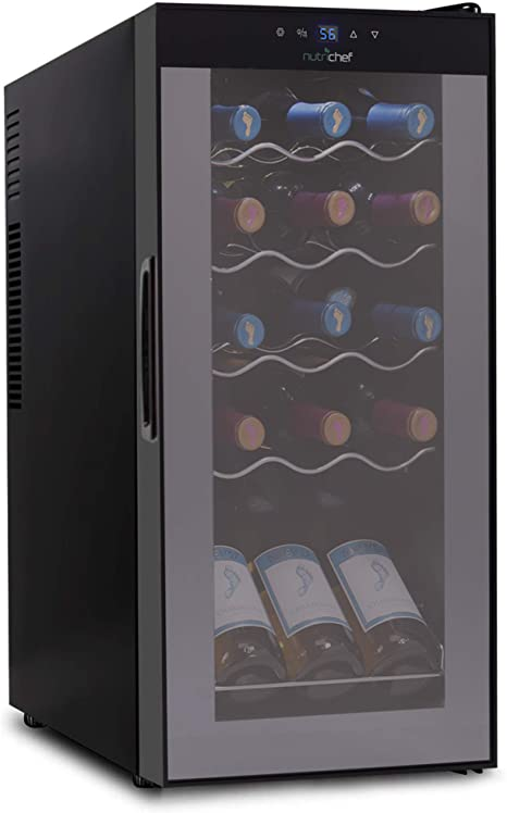 10. NutriChef PKCWC150 15 Bottle Wine Cooler Refrigerator