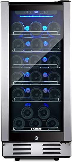 2. STAIGIS Wine Refrigerator - 15 Inch Wine Cooler