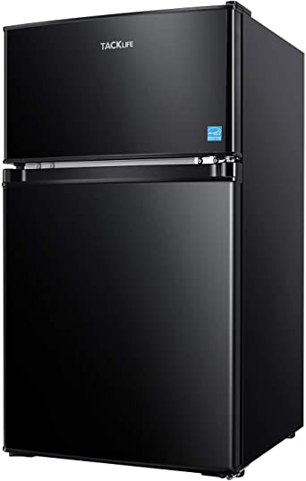 10. Compact Refrigerator 3.2 Cu.Ft, TACKLIFE 2 Door Mini Fridge with Freezer