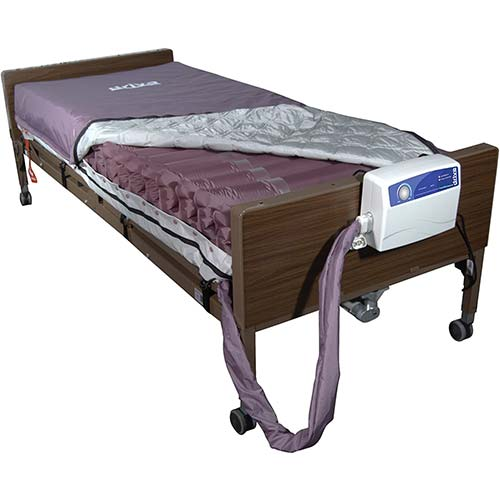 2. Drive Medical Med Aire Low Air Loss Mattress Replacement System with Alternating Pressure