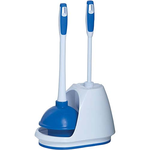 6. Mr. Clean 440436 Turbo Plunger and Bowl Brush Caddy Set