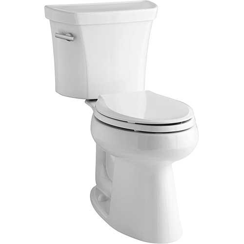 3. Kohler K-3889-U-0 Highline Comfort Height 1.28 gpf Toilet, 10-inch Rough-In