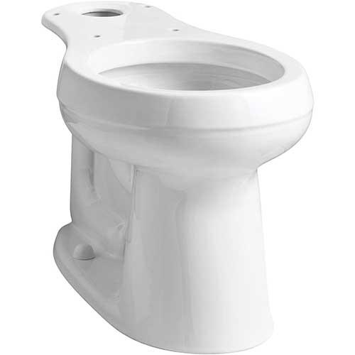 5. KOHLER 4829-0 Cimarron Comfort Height Round-Front Toilet Bowl with 10