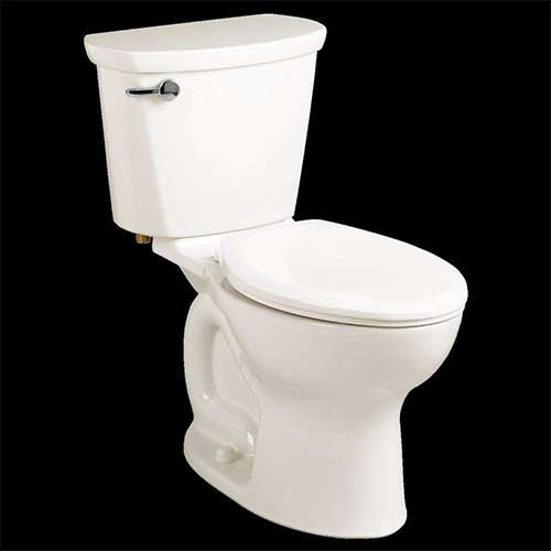 2. American Standard 215CB004.020 Cadet Pro 1.6 GPF 2-Piece Elongated Toilet with 10-In Rough-In