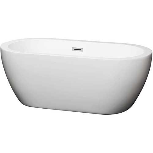 5. Wyndham Collection Soho 60 inch Freestanding Bathtub in White