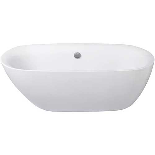 10. KINGSTON BRASS VTDE673023 67-Inch Contemporary Freestanding Acrylic Bathtub