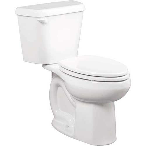 4. American Standard 221CB104.020 Colony 1.28 GPF 2-Piece Elongated Toilet with 10-In Rough-In