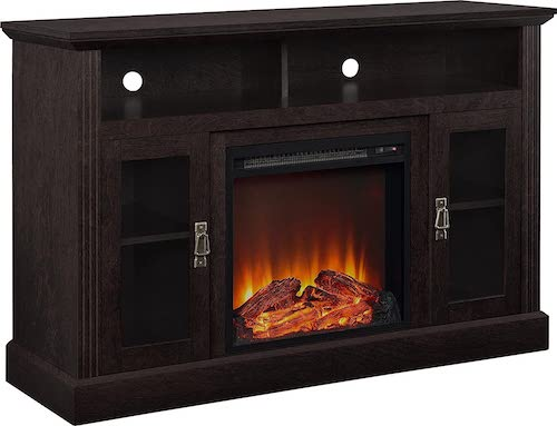 3. Ameriwood Home Chicago Electric Fireplace TV Console for TVs up to a 50