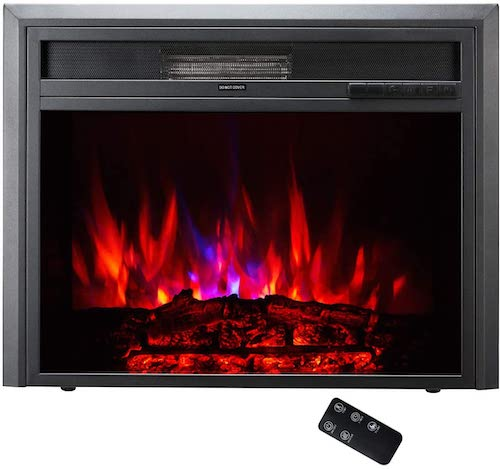 1. TAGI 30'' Embedded Electric Fireplace Insert, Recessed Electric Stove Heater with Remote Control