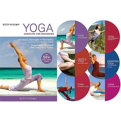 1. Yoga for Beginners Deluxe 6 DVD Set: 8 Yoga Video Routines for Beginners
