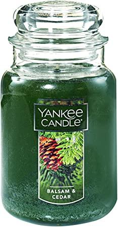 1. Yankee Candle Large Jar Candle Balsam & Cedar