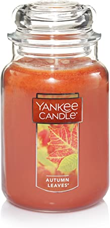 9. Yankee Candle Autumn Leaves Scented Premium Paraffin Grade Candle Wax with up to 150 Hour Burn Time, Large Jar