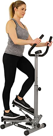 1. Sunny Health & Fitness Twist Stepper Step Machine w/Handle Bar and LCD Monitor - NO. 059