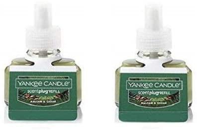 3. Yankee Candle Set of 2 Balsam & Cedar Scent Plug Refill Bottles Pack of 2 Refills