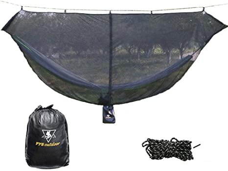 3. pys Hammock Bug Net - 12' Hammock Mosquito Net Fits All Camping Hammocks, Compact, Lightweight and Fast Easy Set Up