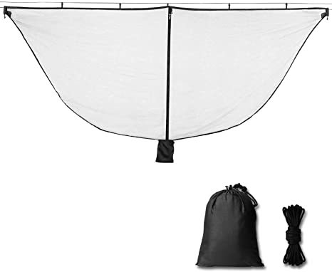 9. Alucky Hammock Net Camping Mosquito Net, No See Ums & Repels Insect, Polyester Netting